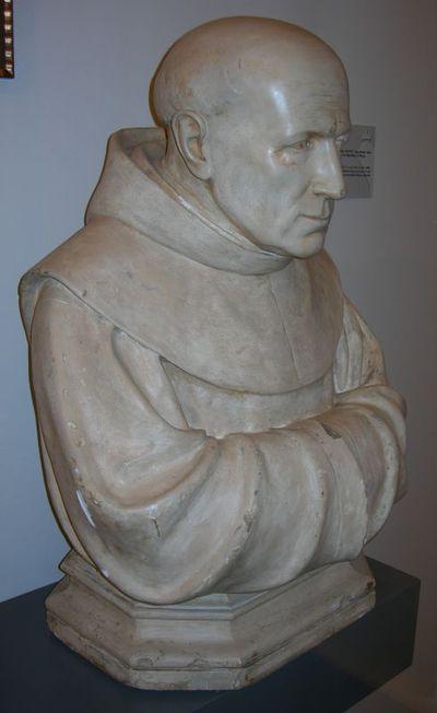 Emile Cantillon (1859-1917), borstbeeld Pater Valentinus, het Heilig Paterke, ca. 1900, gips, gegoten.