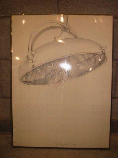 Francis While (°1948), ontwerp voor zeefdruk White Light, 1980, potloodtekening.