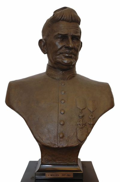 Gerard Moonen (°1953), borstbeeld van Jozef Bollen (1890-1977), Burgemeester van de stad Hasselt van 1937-1963, 1987, brons.