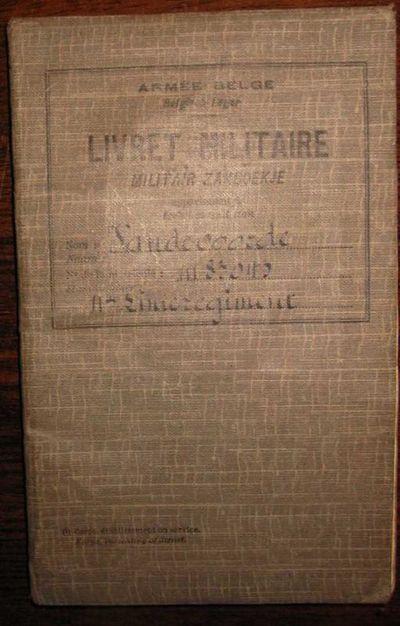 Anoniem, militair zakboekje van Van de Voorde Alexandre-Paul- Edouard, 1933, papier.