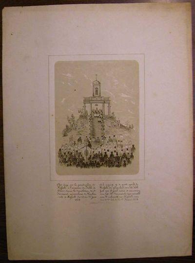 H. Poppe, prent Ark op de Grote Markt t.g.v. 50-jarig Jubelfeest, overbrenging H. Sacrament van Mirakel, 1854, papier.