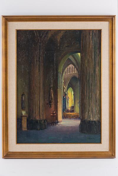 Interieur O.L.V.-Kerk Brugge (herwerkt van 1929)