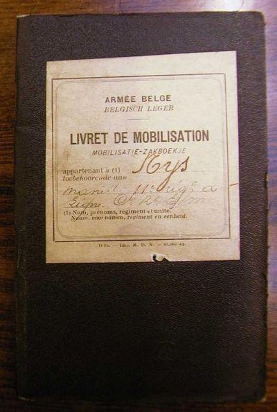 Anoniem, mobilisatiezakboekje van Manille Nijs, 1912.