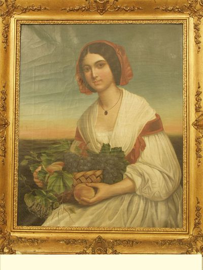 Vrouw met fruitmand