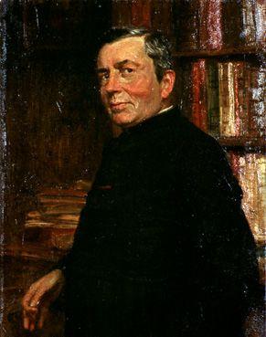 Portret van August Cuppens, pastoor van Loksbergen
