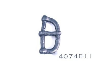 Complete ijzeren gesp met een D-vormige beugel