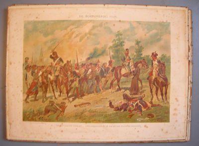 Davidsfons, prent met tafereel uit de Boerenkrijg naar een aquarel van Louis Geens, s.d., papier, lithografie.