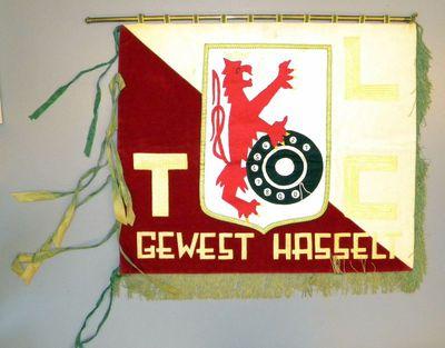 Anoniem, vaandel 'Limburgse Telegrafie Club - Gewest Hasselt', s.d., katoen, zijde en velours.