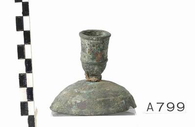 Volledige kandelaar in brons