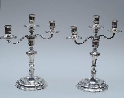 Johannes Warnberger, tafelkandelaar, 1720-1721, zilver.
