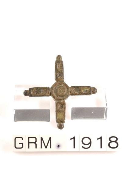 Complete bronzen kop van een pin