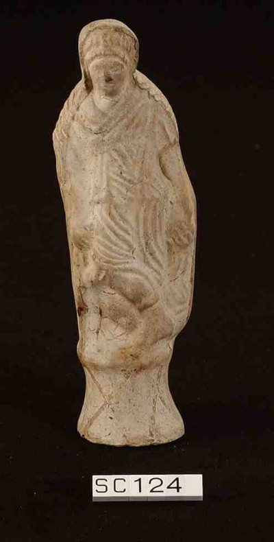 Volledig figurine van Diana in terracotta