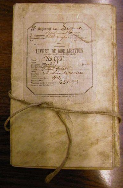Anoniem, mobilisatiezakboekje Elfde Linieregiment van Manille Nijs, 1912.