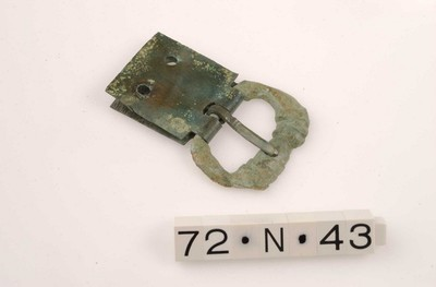 Volledige gesp met gespplaat in brons