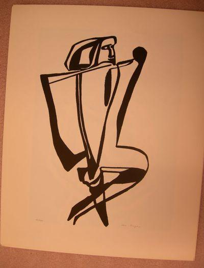 Jos Froyen (°1945), Mansfiguur, uit map van Sakoura Kunstgroep Hasselt, s.d., offsetdruk.