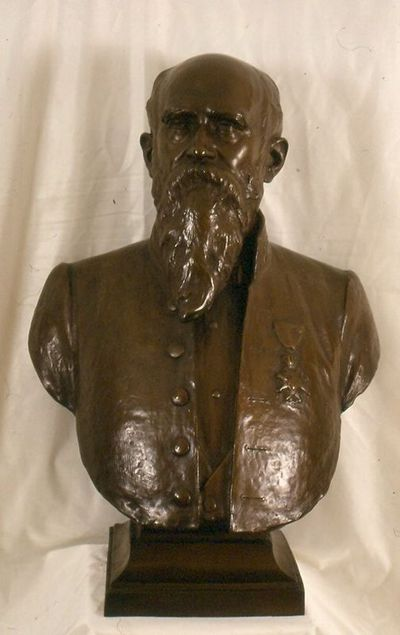 Emile Cantilllon (1859-1917), borstbeeld van Guillaume Stellingwerff (1841-1923) als burgemeester, ca. 1905, gegoten brons.