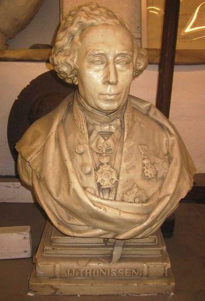 Jules Courroit (1831-1906), Borstbeeld Jean Joseph Thonissen (1816-1891), s.d., gips.