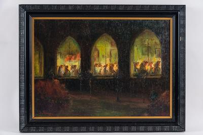Processie in het klooster