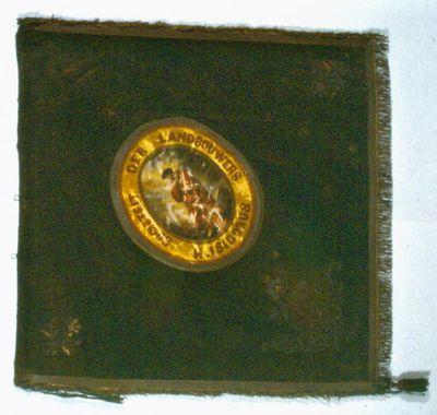Anoniem, vaandel van de Sociëteit Der Landbouwers H. Isidorus te Hasselt, 1863, fluweel, linnen, zijde.