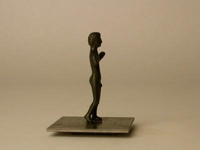 Bijna volledige figurine van Hercules in brons