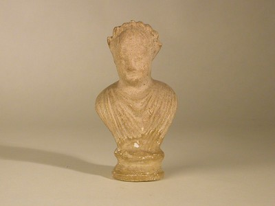 Volledige buste (figurine) van Bacchus in terracotta