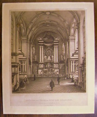 Charles Joseph Hoolans (1814-na 1866) lithograaf, Simonau & Toovey drukker, Binnenzicht in de Virga-Jessebasiliek,1860, lithografie.