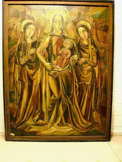 Madonna met kind tussen twee vrouwelijke Heiligen