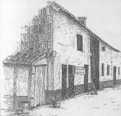 Bill (Willy Briers) (1927-1989), prent van een hoeve op de Steenberg te Sint-Lambrechts-Herk, 1978, papier, gedrukt.