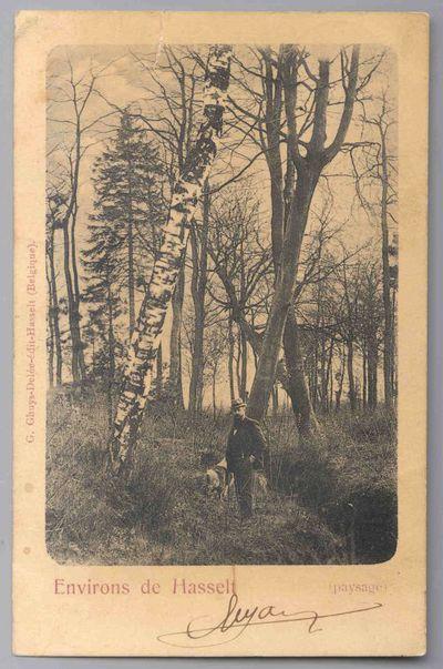 G. Ghuys-Delée, prentkaart met landschap uit de omgeving van Hasselt, geadresseerd aan Djef Anten (1851-1913), 1905, papier.