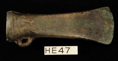 Volledige kokerbijl van het Plainseautype in brons