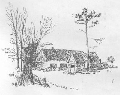 Bill (Willy Briers) (1927-1989), prent van een hoeve te St-Lambrechts-Herk, 1978, papier, kopie.
