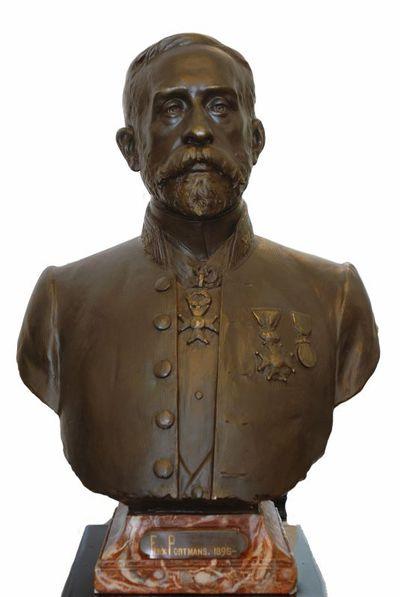 Emile Cantillon (1859-1917), Borstbeeld van Ferdinand Portmans (1854-1938), burgemeester van de stad Hasselt van 1895 tot 1937, ca. 1905, gips, gegoten.
