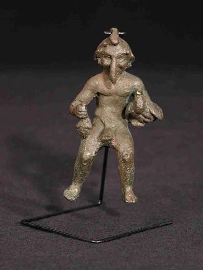 Volledige figurine van Mercurius in brons