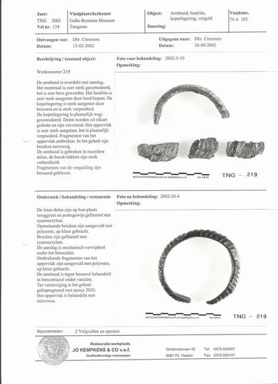 Complete bronzen open armband