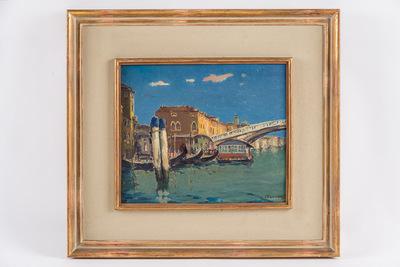 Venetie Canal Grande met brug