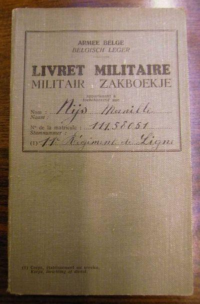 Anoniem, militair zakboekje van Manille Nijs, 1912.