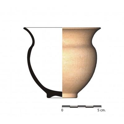AL_07I. Vaso caliciforme procedente del Cerro de la Cruz (Almedinilla, Córdoba)