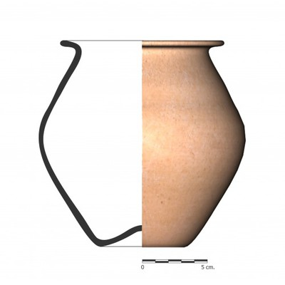 BO11a_1. Recipiente cerámico procedente de la necrópolis ibérica de La Bobadilla (Alcaudete, Jaén)