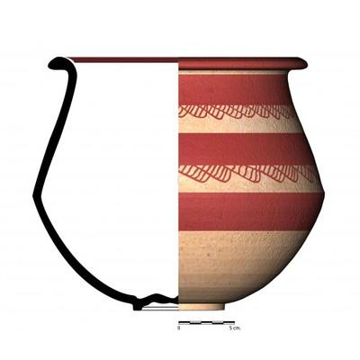 CC02_3. Recipiente cerámico procedente de la necrópolis ibérica de Castellones de Ceal (Hinojares, Jaén)