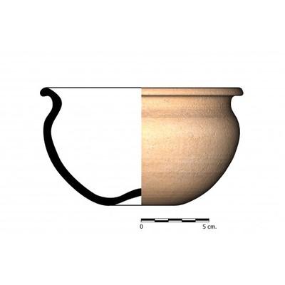 CC02_7. Recipiente cerámico procedente de la necrópolis ibérica de Castellones de Ceal (Hinojares, Jaén)