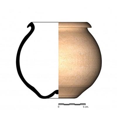 CC03_2. Recipiente cerámico procedente de la necrópolis ibérica de Castellones de Ceal (Hinojares, Jaén)