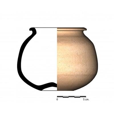 CC03_3. Recipiente cerámico procedente de la necrópolis ibérica de Castellones de Ceal (Hinojares, Jaén)