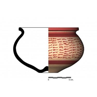 CC03_8. Recipiente cerámico procedente de la necrópolis ibérica de Castellones de Ceal (Hinojares, Jaén)
