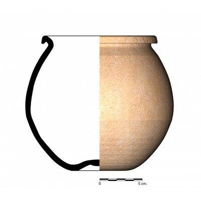 CC022_4. Recipiente cerámico procedente de la necrópolis ibérica de Castellones de Ceal (Hinojares, Jaén)
