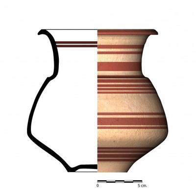 CC023_3. Recipiente cerámico procedente de la necrópolis ibérica de Castellones de Ceal (Hinojares, Jaén)