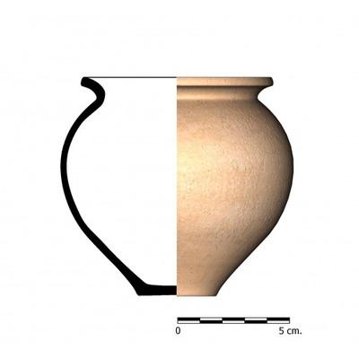 CG28. Recipiente cerámico procedente de la necrópolis ibero-romana del Cerrillo de los Gordos, Cástulo (Linares, Jaén)