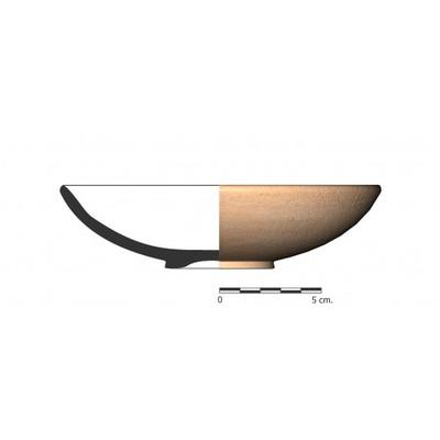 GU040. Recipiente cerámico procedente de la necrópolis ibérica del Cerro del Ejido de San Sebastian (La Guardia, Jaén)