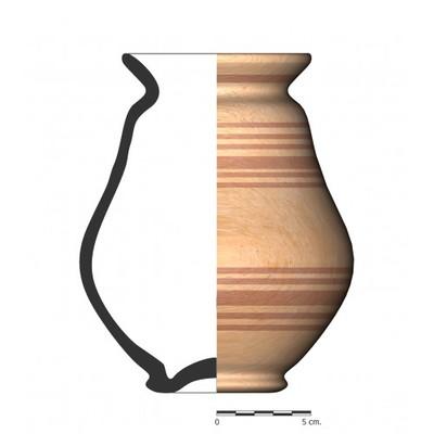 GU056. Recipiente cerámico procedente de la necrópolis ibérica del Cerro del Ejido de San Sebastian (La Guardia, Jaén)