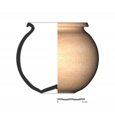 TU19_2. Recipiente cerámico procedente de la necrópolis ibérica de Tútugi (Galera, Granada)