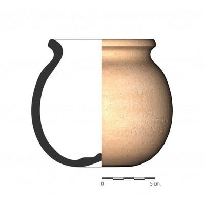 TU96_5. Recipiente cerámico procedente de la necrópolis ibérica de Tútugi (Galera, Granada)